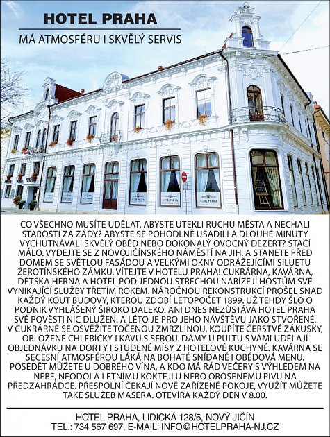 Hotel Praha, Lidická 128/6, Nový Jičín