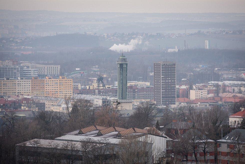 Halda Ema, 30. prosince 2019 v Ostravě. Na snímku nová radnice.