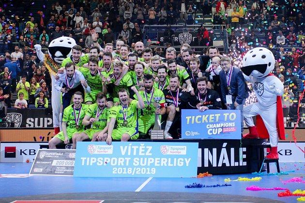 Superfinále play off Tipsport superligy - Technology florbal Mladá Boleslav - 1.SC TEMPISH Vítkovice, 14.dubna 2019vOstravě.