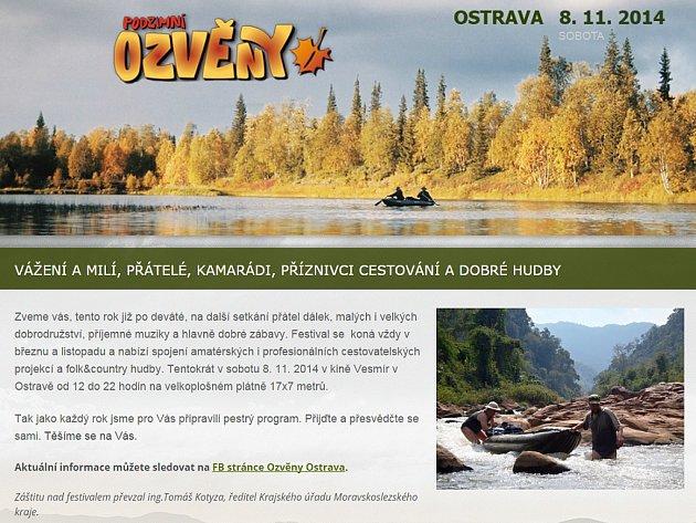 Webové stránky www.ozvenyostrava.cz