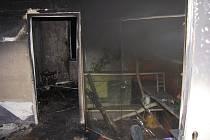 Noční požár bytu v Ostravě-Porubě