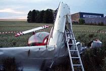 Havárie letadla. Ilustrační foto