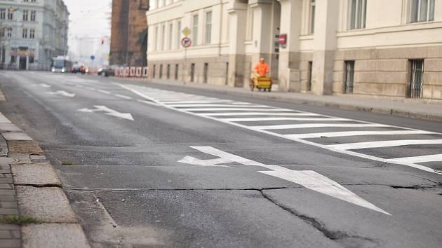 Českobratrská ulice v centru Ostravy. Ilustrační foto.