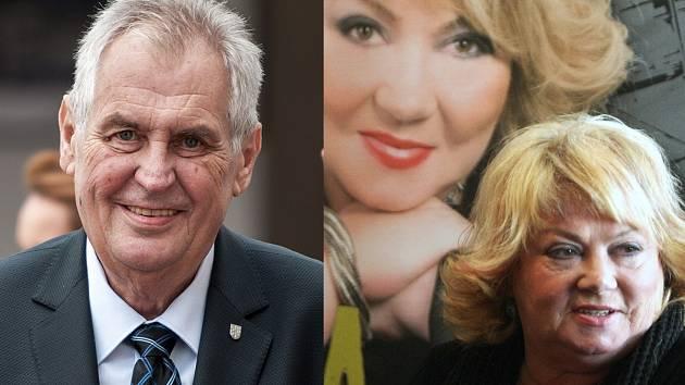 Miloš Zeman a Věra Špinarová.