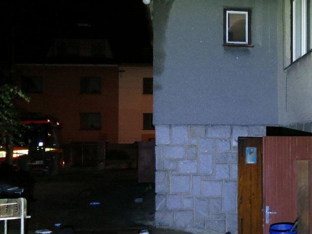 Snímek z místa zásahu.