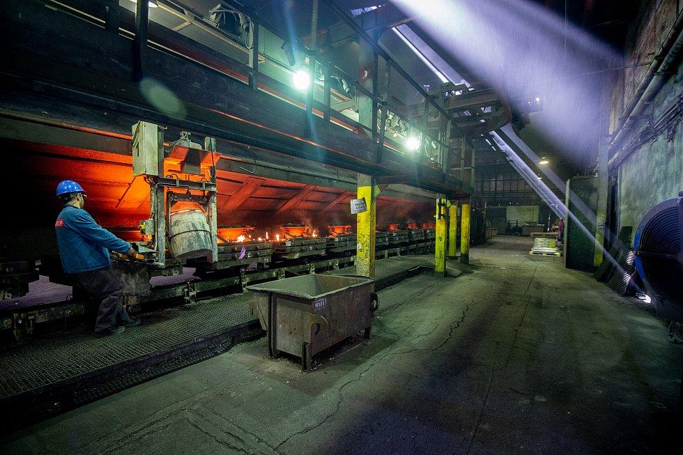 Výroba kotlů Viadrus v Bohumíně.