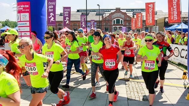Český běh žen.Závod na 10 kilometrů