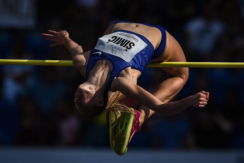 Zlatá tretra, atletický mítink IAAF World Challenge, 20. června 2019 v Ostravě. Na snímku Anna Šimic.