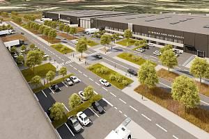 Takto má vypadat nový průmyslový park u dálnice D1 v Ostravě-Hrušově.