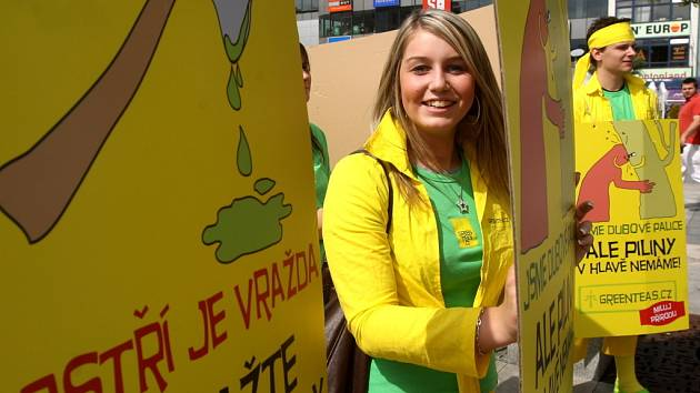 Hnutí Greenteas burcovalo za práva rostlin v Ostravě