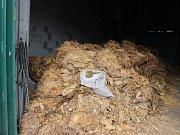 Celníci našli uvnitř velké množství tabákových listů.