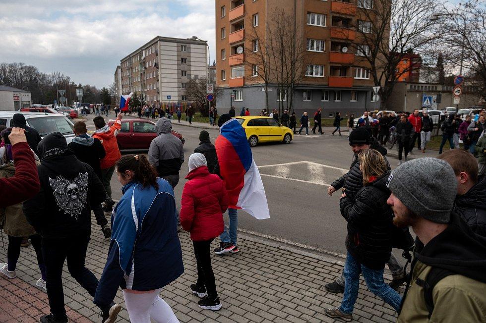 Procházka s Volným blokem, kterou pořádá Lubomír Volný (Poslanec Parlamentu České republiky), se uskutečnila 20. března 2021 v Karviné.