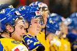 Mistrovství světa hokejistů do 20 let, zápas o 3. místo: Švédsko - Finsko, 5. ledna 2020 v Ostravě. Na snímku Nils Lundkvist (SWE).