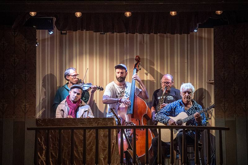Zkouška představení Deadtown divadla bratří Formanů v Ostravě.