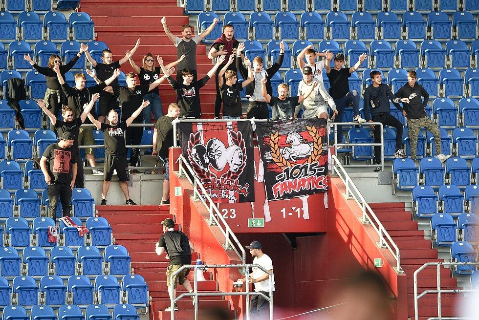 Utkání 4. kola první fotbalové ligy: FC Baník Ostrava - FK Pardubice, 19. září 2020 v Ostravě. Fanoušci Pardubic.