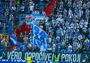 Fotbalový zápas FC Baník Ostrava - FC Sellier Bellot Vlašim. Vzpomínka fanoušků na zpěvačku Věru Špinarovou