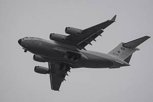 Průlet letadla Boeing C-17A Globemaster III Kuwait Air Force 17. května 2021 nad Ostravou.