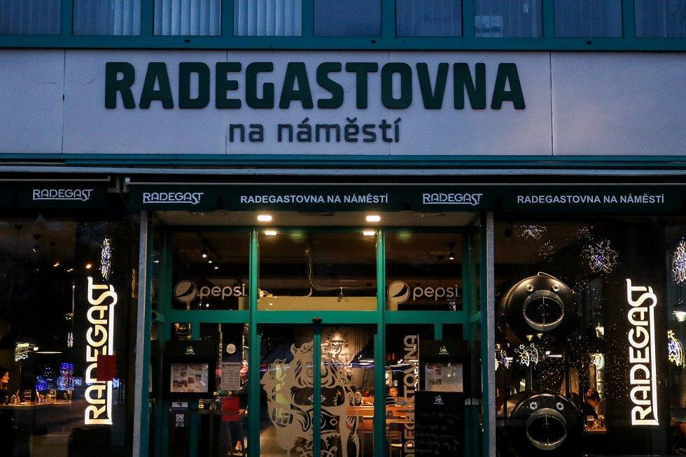 Radegastovna na Masarykově náměstí, 29. prosince 2018 v Ostravě.