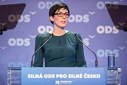 28. kongres ODS v ostravském hotelu Clarion, sobota 13. ledna 2018, na snímku Markéta Pekarová Adamová, 1. místopředsedkyně TOP 09.