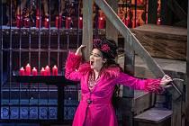 První generální zkouška opery Tosca, 11. února 2021 v Ostravě.