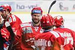 Čtvrtfinále play off hokejové extraligy - 3. zápas: HC Vítkovice Ridera - HC Oceláři Třinec, 24. března 2019 v Ostravě. Na snímku Martin Růžička.