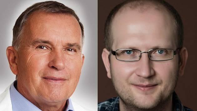 Vlevo na snímku MUDr. Jiří Vorlíček, CSc., vpravo MUDr. Doc. David Vrána, Ph.D
