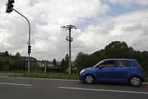 Radarový semafor v Plesné funguje už rok. Nutí řidiče zpomalit.