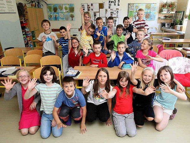 Děti třetí třídy Základní školy Šeříková v Ostravě-Výškovicích.