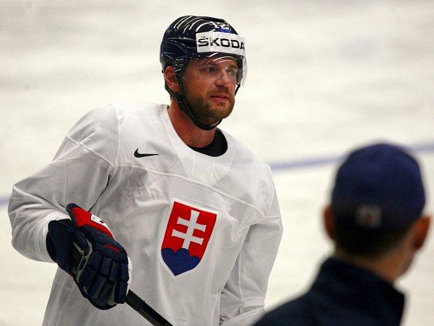 Útočník a největší hvězda slovenského národního týmu na mistrovství světa Marián Gáborík.