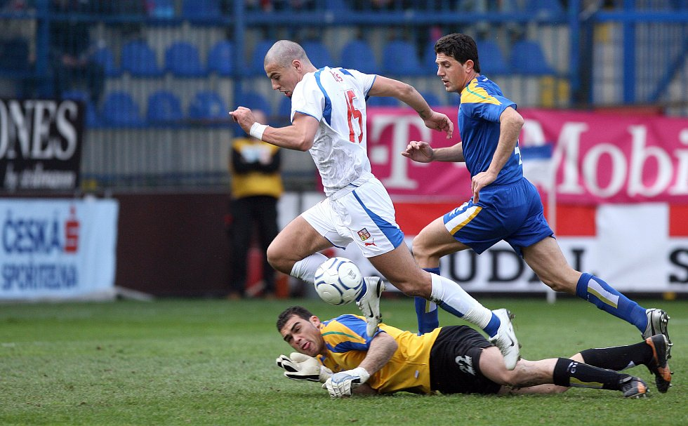 Milan Baroš během zápasu s Kyprem.