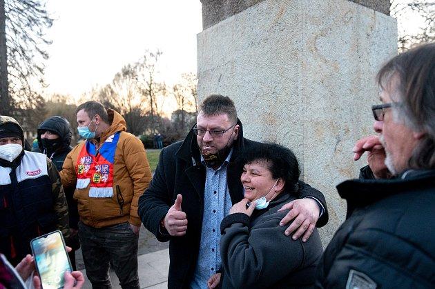 Procházka sVolným blokem, kterou pořádá Lubomír Volný (Poslanec Parlamentu České republiky), se uskutečnila 20.března 2021vOstravě.