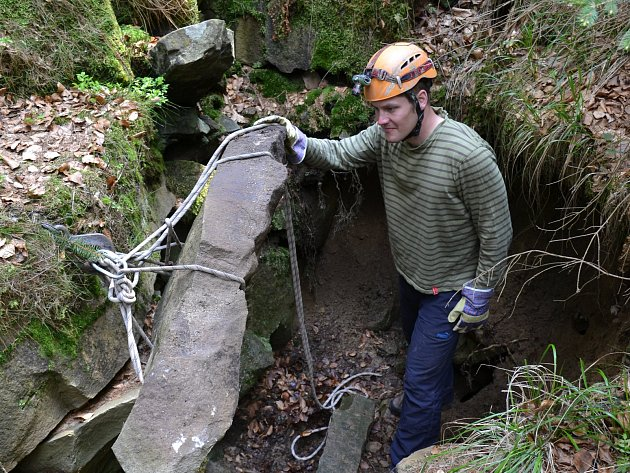 Geomorfolog a jeskyňář Jan Lenart.