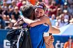Ženy: Zápas o 3. místo USA - Nizozemsko. FIVB Světové série v plážovém volejbalu J&T Banka Ostrava Beach Open, 2. června 2019 v Ostravě. Na snímku Sanne Keizer (NED).