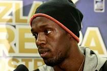 Usain Bolt přiletěl do Mošnova na Zlatou Tretru.
