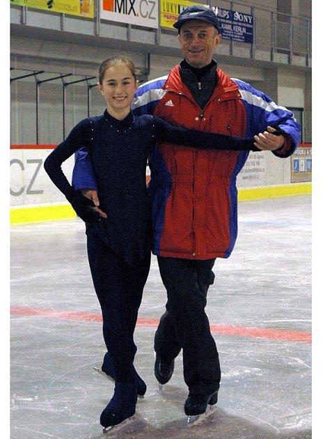 Alexandra Herbriková s trenérem Stanislavem Žídkem