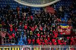 Utkání 20. kola první fotbalové ligy: Baník Ostrava - Sparta Praha, 14. prosince 2019 v Ostravě. Na snímku fanoušci AC Sparta Praha.