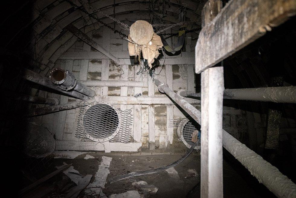 Důl Lazy před uzavřením, listopad 2019.