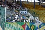 Fanoušci Baníku Ostrava v Teplicích.