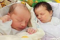 Kryštof a Anna Hudákovi, Mosty u Jablunkova, narozeni 9. září 2021 v Třinci, váha 2860 g a 2870 g. Foto: Gabriela Hýblová