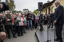 Návštěva prezidenta Miloš Zeman ve Vyšních Lhotách.