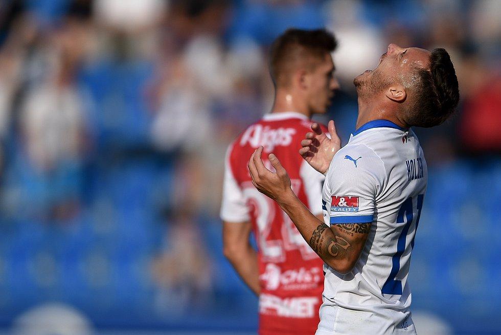 Utkání 4. kola první fotbalové ligy: FC Baník Ostrava - FK Pardubice, 19. září 2020 v Ostravě. Daniel Holzer z Ostravy.