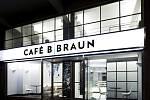 Café B-Braun v Praze. Vizualizace: AI Design