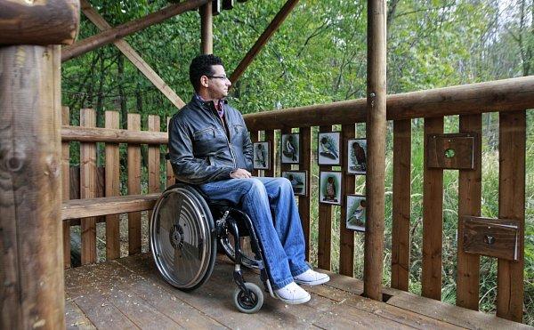 Klimkovický posed je přístupný ipro vozíčkáře.
