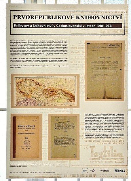 Prvorepublikové knihovnictví je název výstavy připravené upříležitosti chystaného 100.výročí zákona oveřejných knihovnách obecních ze dne 22.července 1919.
