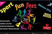 Úvodní strana webový stránek akce Sport Fun Fest.