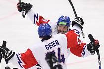 Mistrovství světa v para hokeji 2019, Norsko - Česká republika (čtvrtfinále), 27. dubna 2019 v Ostravě. Na snímku (zleva) Geier Michal (CZE), Kubes Pavel (CZE).