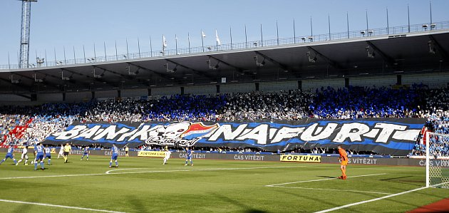 FC Baník Ostrava - SK Slavia Praha, září 2018vOstravě. Ilustrační foto.