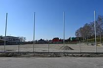 Rekonstrukce hřiště TJ Sokola Koblov.
