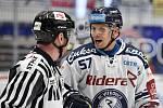 Utkání 51. kola hokejové extraligy: HC Vítkovice Ridera - HC Energie Karlovy Vary, 3. března 2020 v Ostravě. Vpravo Jan Hruška z Vítkovic.