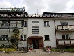 Rekonstrukce podkroví Domova pokojného stáří svatého Václava.